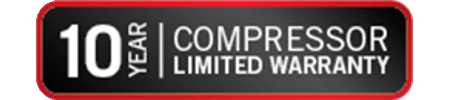10 Year Compressor Parts Warranty