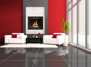 High definition fireplace in a living room