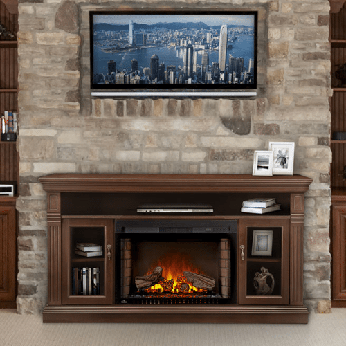 The Canterbury - Electric Fireplace Mantel