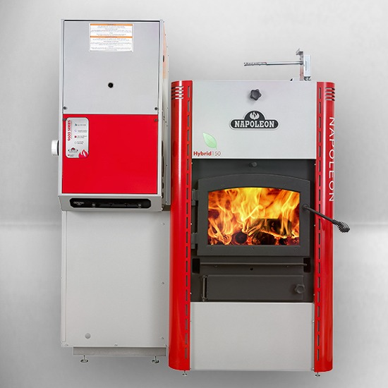 Napoleon hmf150 hybrid combination furnace fireplace for Choosing a furnace