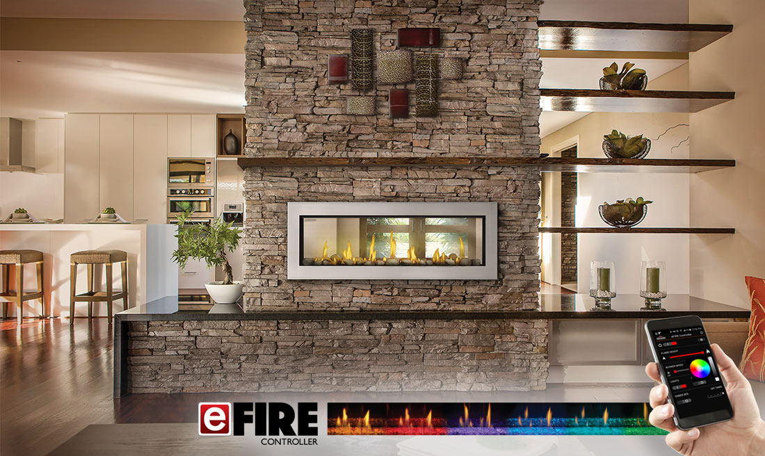 Napoleon Vector Lv50 2 See Thru Gas Fireplace Fireplace