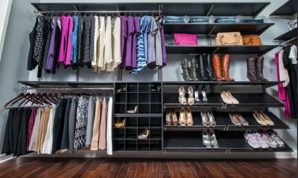 Organized Living Closet Reffdom Rail